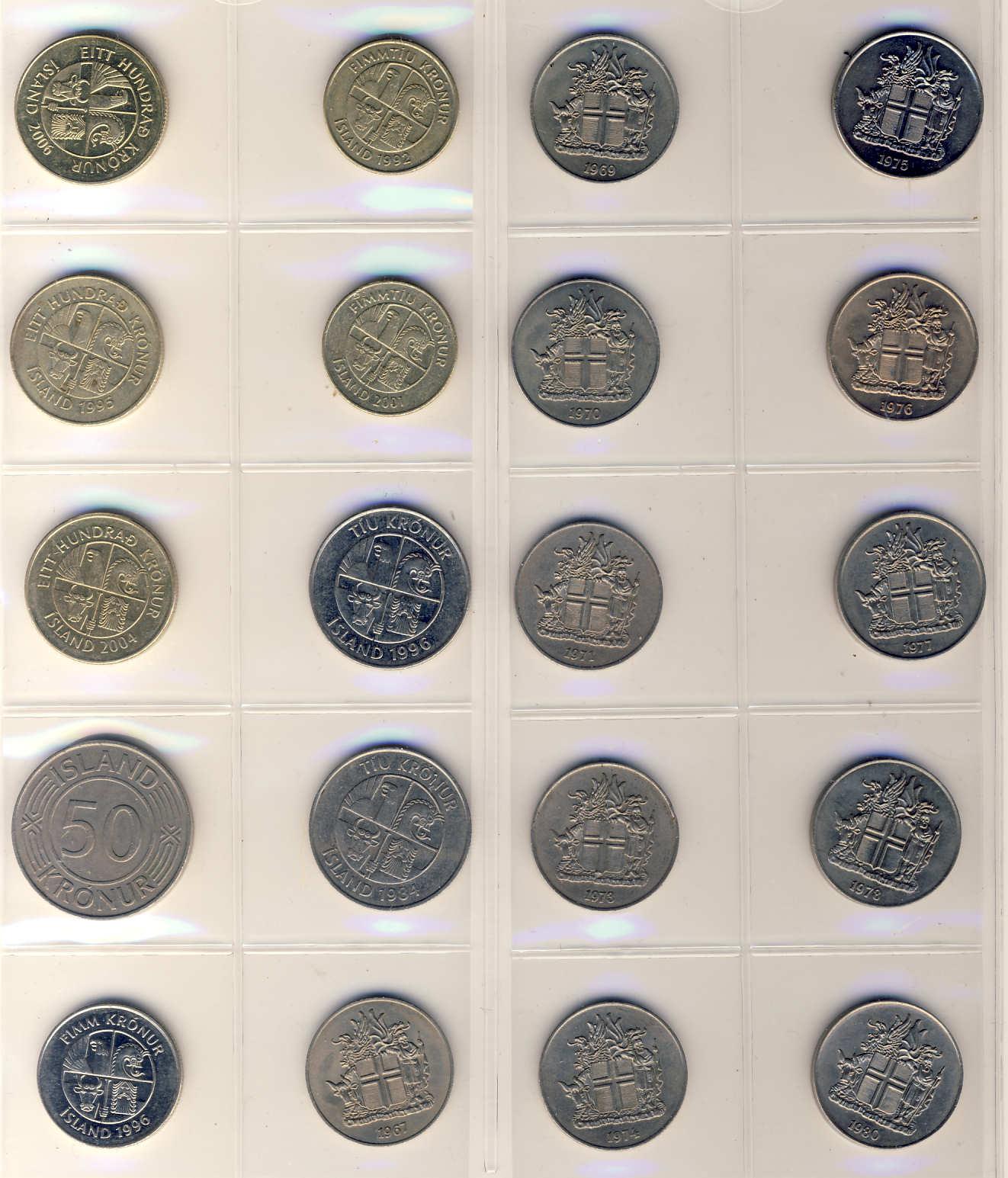 Islandske Mønter